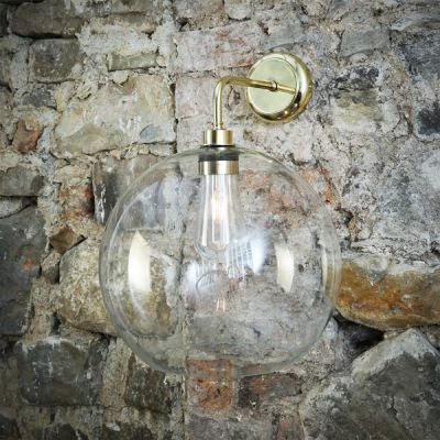 Leith Wall Light Polished Brass