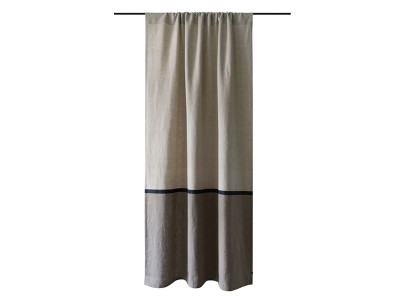 Linen curtain Color block 163cm or longer