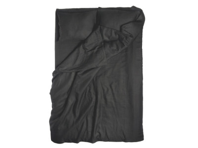 Black linen duvet cover Single 140x200cm