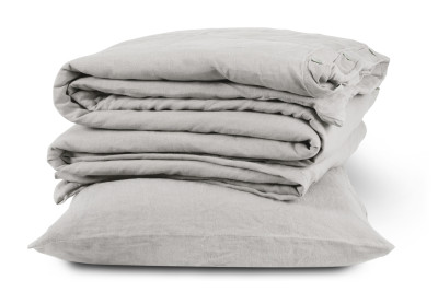 Linen Duvet Cover Dove Grey, Single