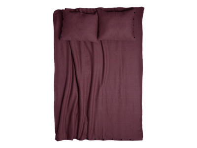 Linen duvet cover Eggplant colour Single 140x200cm