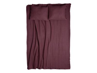 Linen duvet cover Eggplant colour Queen/UK King 230x220cm