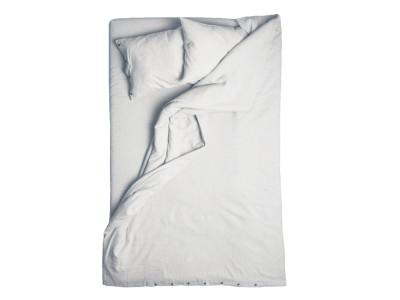Dove grey linen duvet cover Single 140cm x 200cm