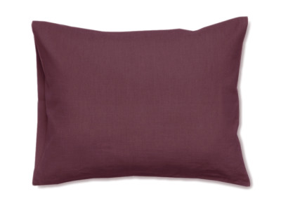 Linen pillowcase Eggplant colour 1 pillowcase 50x75cm