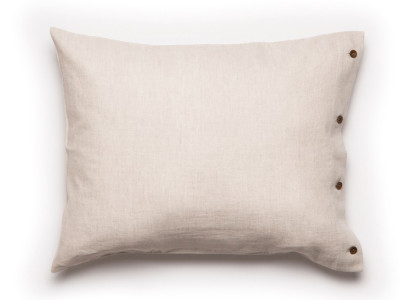 Linen Pillowcase Buttons Closure 1 pillowcase 50x75cm