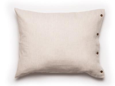Linen Pillowcase Buttons Closure 2 pillowcases 50x75cm