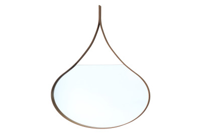 Loopie Wall Mirror Black Walnut, 50cm x 34cm