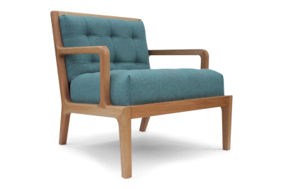 Lucan Armchair Oak, Blue