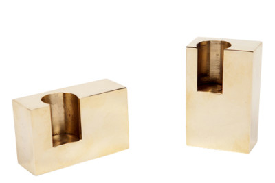 Lump Rectangular Candle Holders Set of 2