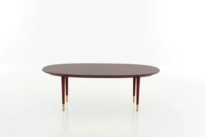 Lunar Oval Coffee Table Black Lacquer