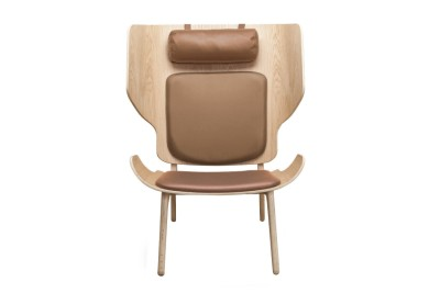 Mammoth Slim Lounge Chair Camel Brown Vintage Leather