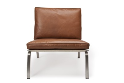 Man Lounge Chair Cognac Brown Premium Leather