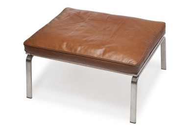 Man Lounge Ottoman Cognac Brown Premium Leather