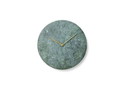 Marble Wall Clock Green