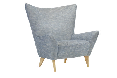 Matador Armchair Blue and Beech