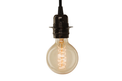 Medium Globe Spiral Light Bulb