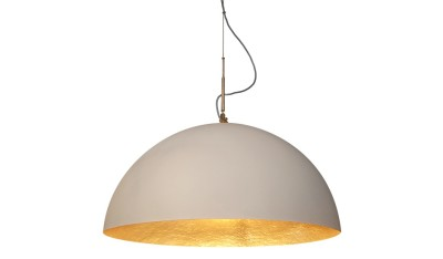 Mezza Luna Pendant Light White and Gold