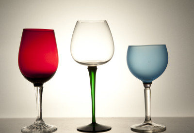 Mixers Set of Three Glasses Mixers - Red/Blue