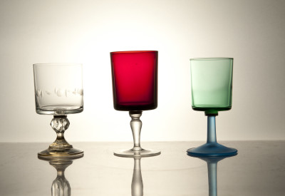 Mixers Set of Three Glasses Mixers - Res/Green