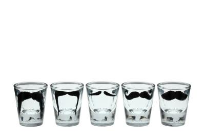 Moustache Shot Glasses Set of Five