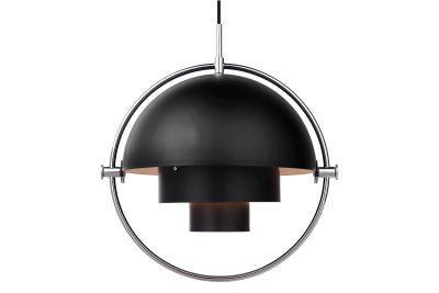 Multi-Lite Pendant Light Black and Chrome