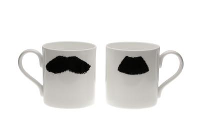 Mustafa Chaplin Moustache Mug Black
