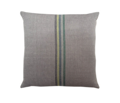 Neon Newport Cushion Charcoal and Green