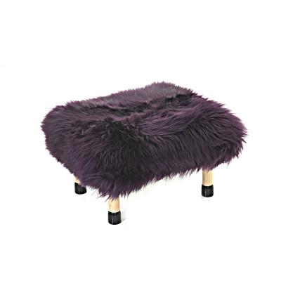 Nia Sheepskin Footstool Aubergine