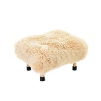 Nia Sheepskin Footstool Buttermilk