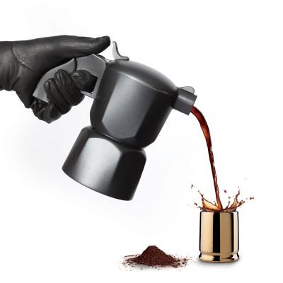 Noir coffeepot with 6 coffee shots Noir coffeepot with 6 coffee shots