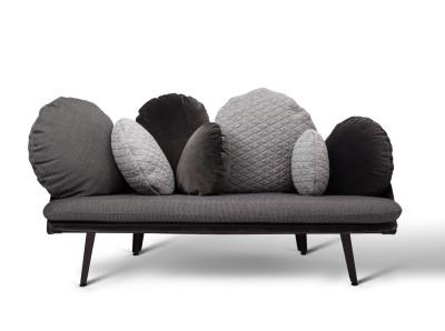 Nubilo Sofa Black, Grey