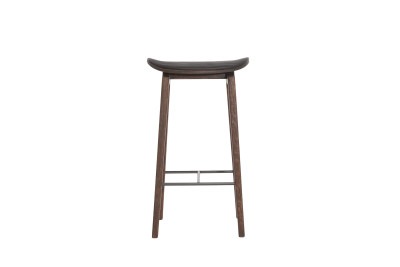 NY11 Bar Chair, Leather Walnut, Low