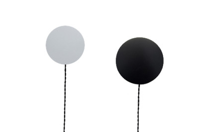 Od Wall Light  31, Black, Euro 2 Pin