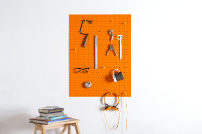 Orange Pegboard Large