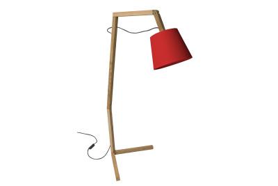 Oud L Floor Lamp Red
