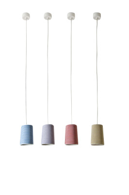 Paint Stripe Pendant Light Red