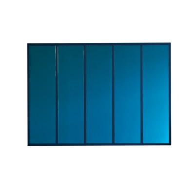 Panels Mirror Blue Mirror, Blue Wood