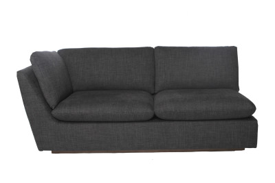 Pillowtalk 2 Seater 1 Arm Sofa Dark Grey