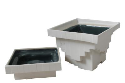 Pixel Pinch Pots White