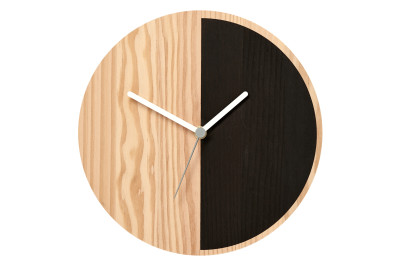Primary Wall Clock Half, Black