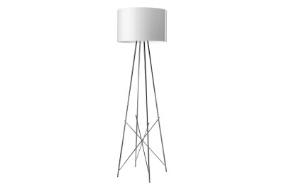 Ray F Floor Lamp F2, White, Large