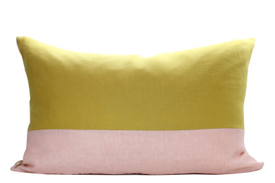 Rectangular Cushion Cover, Yellow, Pink