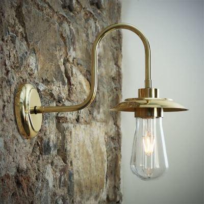 Ren Swan Neck Wall Light Polished Brass