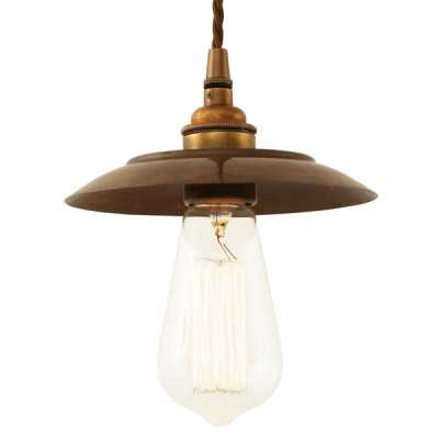 Reznor Industrial Pendant Light Antique Brass