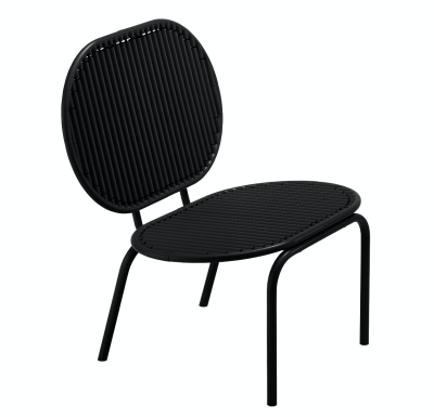 Roll Lounge Chair Black