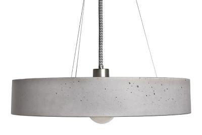 Rota Concrete Pendant Light 100 cm Cable Length