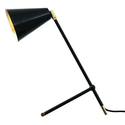 Santa Clara Modern Industrial Table Lamp Matte Black
