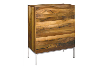 SB04 Fatima Chest of Drawers Oiled Oak, Stainless Steel Structure