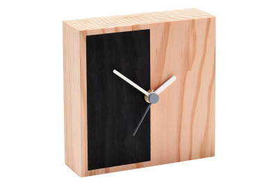 Secondary Desk Clock Half, Black