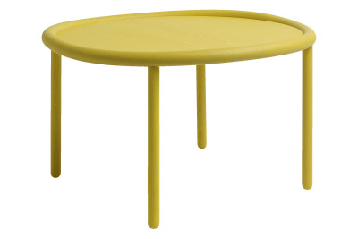 Serve Side Table Yellow Top, Yellow Legs, Large